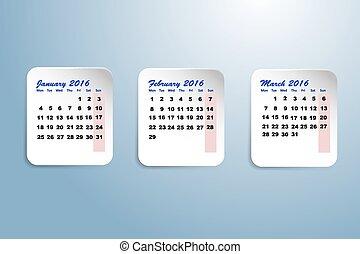 四分の一, 最初に, カレンダー