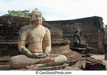 四邊形, polonnaruwa, sri, 神聖, vatadage, lanka