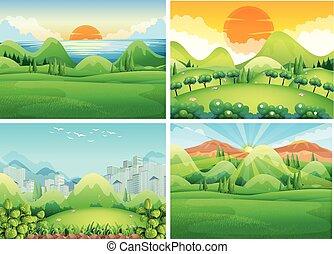 四, 場景, 白天, 自然