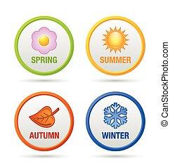 四, 季节, 图标