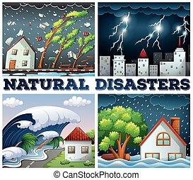 四, 自然, 場景, 災禍