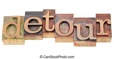 回り道, 単語, 中に, 凸版印刷, タイプ