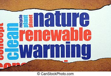回復可能, 暖まること, 自然