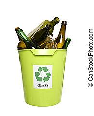 回收桶, 由于, 玻璃