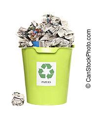 回收桶, 由于, 紙