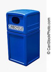 回收桶, 藍色, 塑料, 罐頭