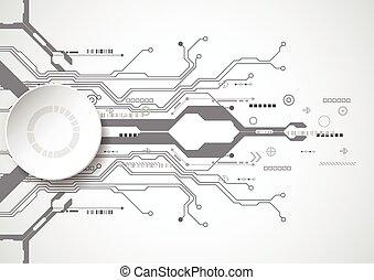 回路, ベクトル, 背景, technology., 板, イラスト