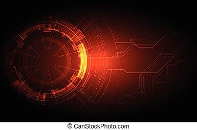 回路, 抽象的, イラスト, ベクトル, 背景, 技術