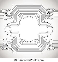 回路, 抽象的, 背景, 手ざわり, 板
