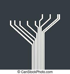 回路, 概念, 木, 未来派
