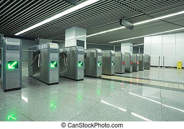回転式木戸, 地下鉄, 現代, 門, 建築である, 内部