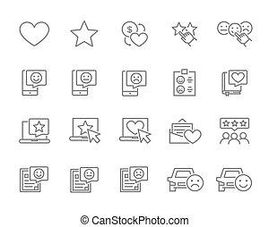 回顾, 增加, icons., favorites, 好, 满意, 放置, 服务, 等级分类, more., 线, 客户, 控制, 客户, 质量
