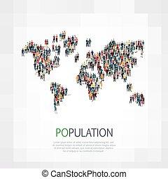 团体, 人们, 形状, 人口