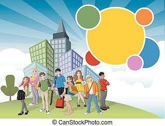 团体, 卡通漫画, 青少年