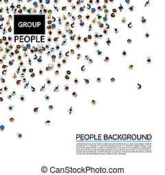 团体, 大, 人们, 人群。
