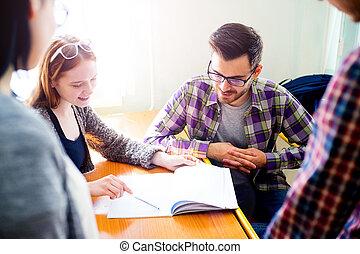 団体学生, 上に, a, 講義