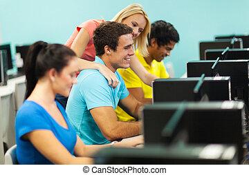 団体学生, 中に, コンピュータ研究室