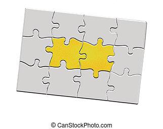 困惑, ジグソーパズル, 鍵穴, 小片