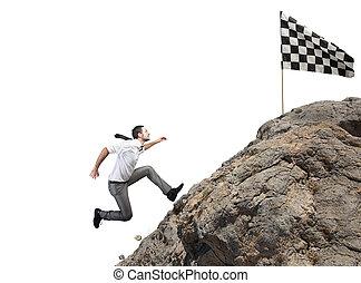 困难, 职业, 同时,, 成就, 商业, 目标