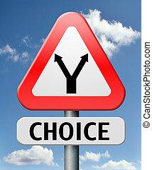 困难, 选择