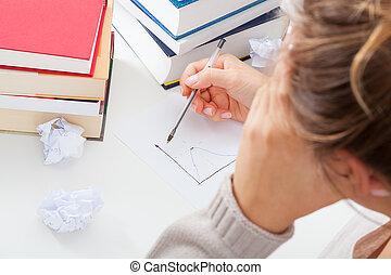 困難, 勉強