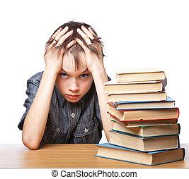 困難, 失望させられた, 勉強, 子供