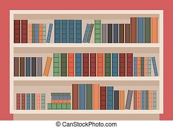 図書館の 本, 場合