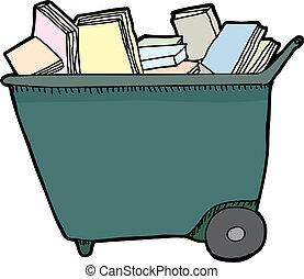 図書館, 隔離された, カート