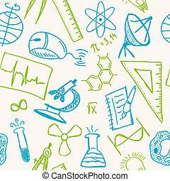 図画, パターン, seamless, 科学