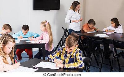 図画, 基本的な 年齢, クラス, 子供, 学校