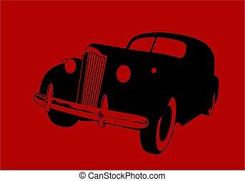 図画, 黒, かすんでいる, 自動車, ベクトル, 赤, illustrations., ロゴ, バックグラウンド。