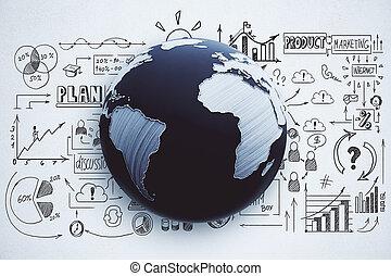 図画, plan., グローバルなビジネス
