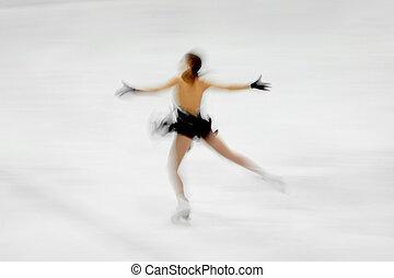 図 スケート選手