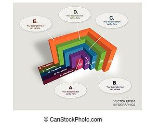 図, ベクトル, 創造的, infographics