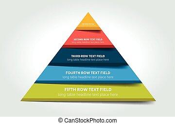 図, 三角形, infographic, スケジュール, チャート, テーブル, vector., 案,...