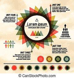 図, 抽象的, infographic, パイ