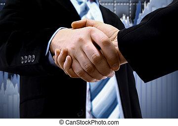 図, 握手