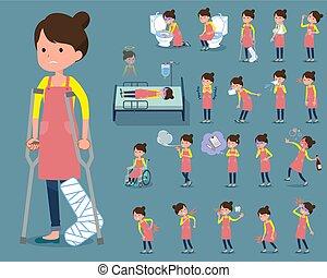 围裙, 芭蕾舞, 头发bun, 疾病, 妈妈, 套间, 类型