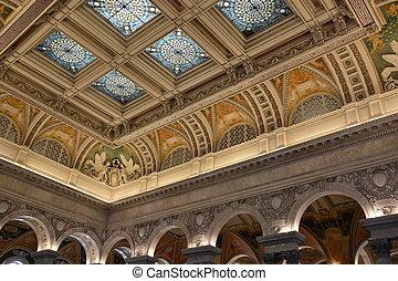 国会図書館, 中に, ワシントン, dc