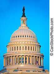 国会議事堂の 建物, ドーム, washington d.c., 私達, 議会