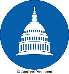 国会議事堂, ベクトル, dc, ワシントン, 丘, 建物, 米国, アイコン