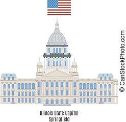 国会議事堂, 合併した, イリノイ, 州, 州, アメリカ, スプリングフィールド