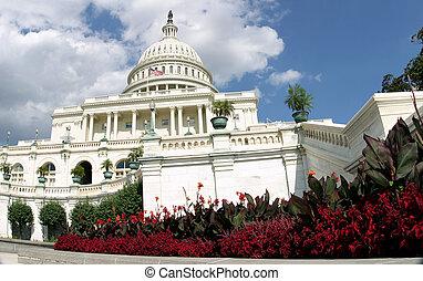 国会議事堂, 花で