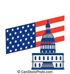 国会議事堂, 隔離された, アメリカ, デザイン, ベクトル