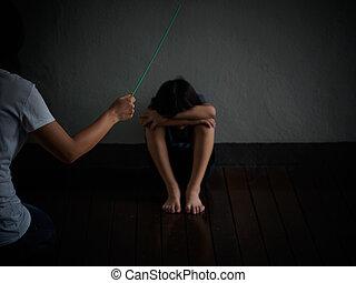 国内, violence:, 女性手, ∥で∥, ベルト, 上に, ∥, 背景, の, kid.