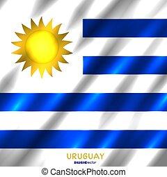 国旗, 背景, ウルグアイ