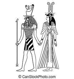 国民, エジプト人, drawing.