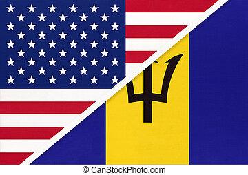 国民, バルバドス, countries., 関係, アメリカ, ∥対∥, 2, flag., ∥間に∥