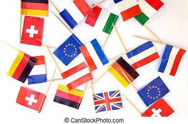 国民, 旗, の, 別, 国, 白, 背景