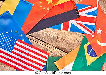 国民, 旗, の, ∥, 別, countries.